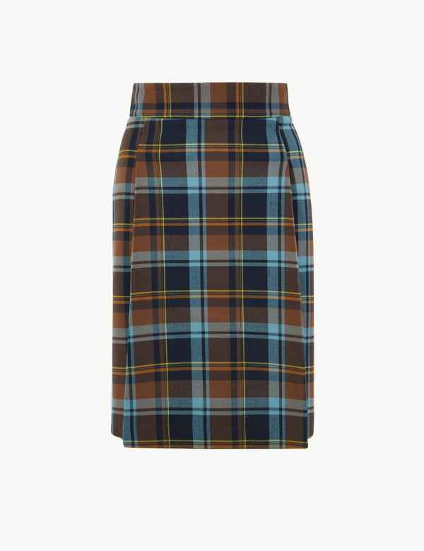 b819e798e1 Checked Pleat Front Mini Skirt. New
