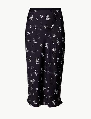 624759e8 Floral Print Slip Midi Skirt £29.50