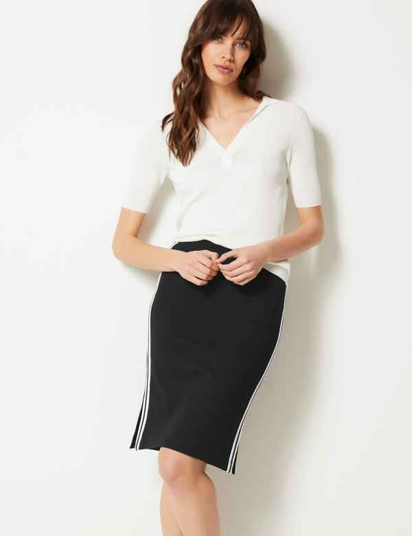 e7d40c2aabf Jersey Side Stripe Slip Skirt