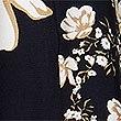 Asymmetrischer Rock mit Blumenmuster, MARINEBLAU MELANGE, swatch