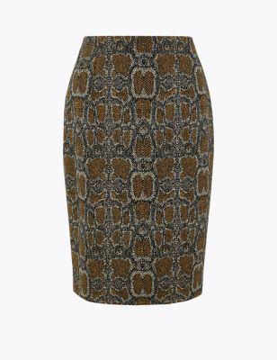 Snake Print Pencil Skirt by Marks & Spencer