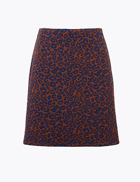 Animal Print A-Line Mini Skirt