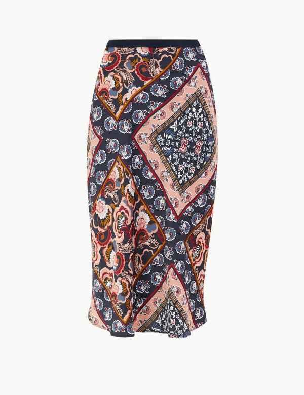 be62b7ec0f66b1 Paisley Scarf Print Slip Skirt. New