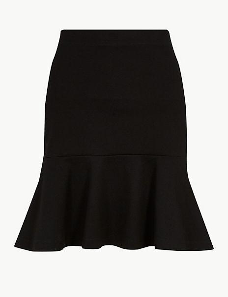Jersey Fishtail Mini Skirt