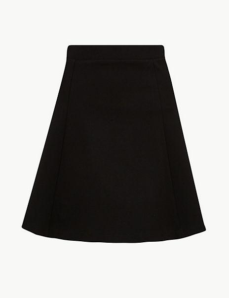 Jersey Fit & Flare Mini Skirt