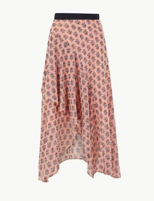 3f4f2470ab9d Floral Print Wrap Style Midi Skirt £39.50