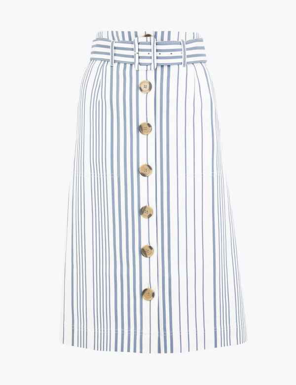 New Womens Marks /& Spencer Per Una Purple Denim Skirt Size 14
