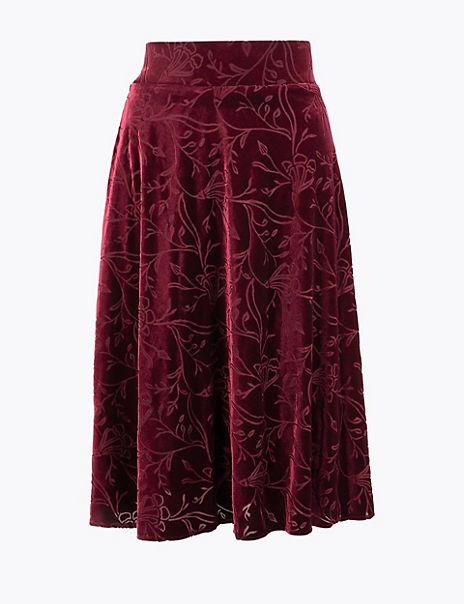 Jersey Floral Skirt
