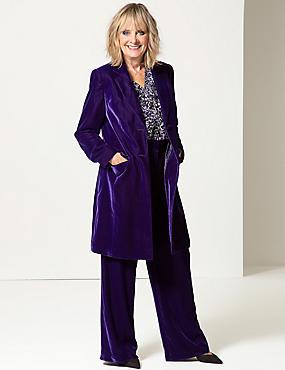 Longline Velvet Coat