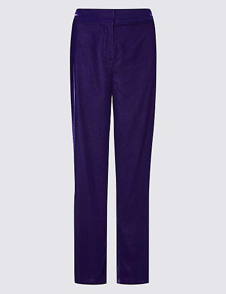 Velvet Wide Leg Trousers
