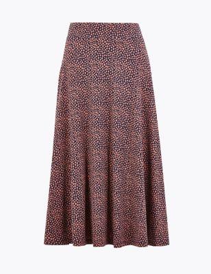 17401ad37 Jersey Spot Print Midi Skirt £35.00