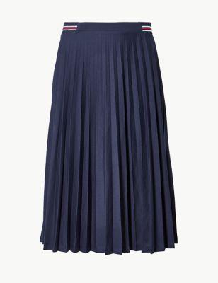b81b54b60d94 Jersey Pleated Midi Skirt £25.00