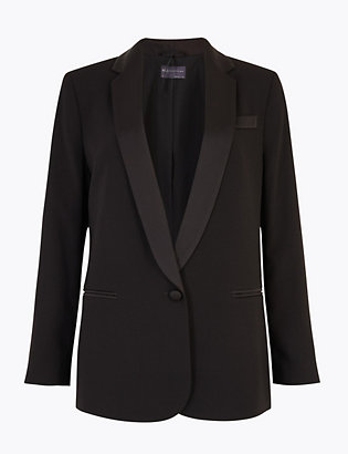 Petite Tuxedo Blazer by Standard Tracked Delivery