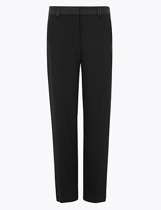 Petite Straight Leg Tuxedo Trousers by Standard Tracked Delivery