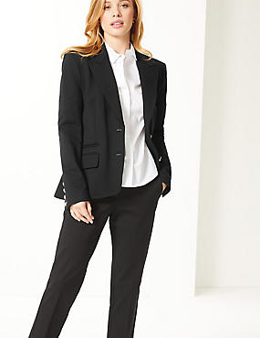 Tailored Gold Button Blazer