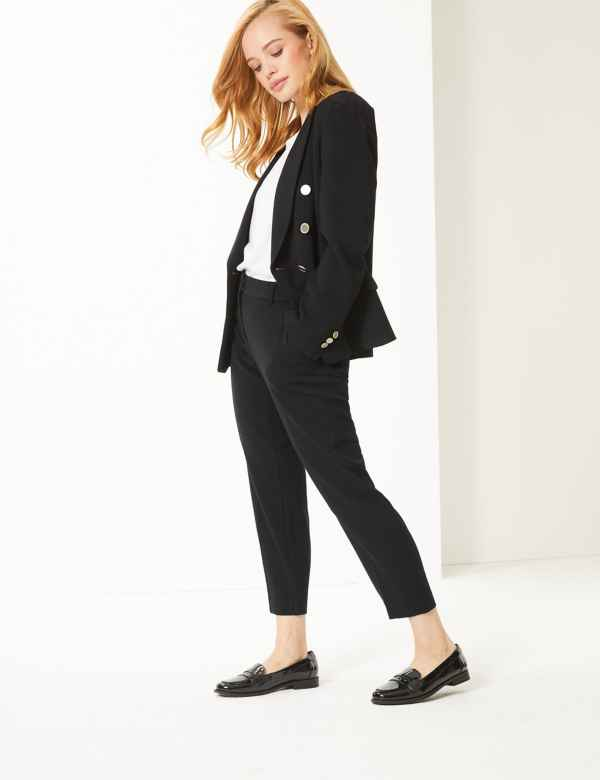 5ed58497cafc65 Womens Petite Trousers | M&S