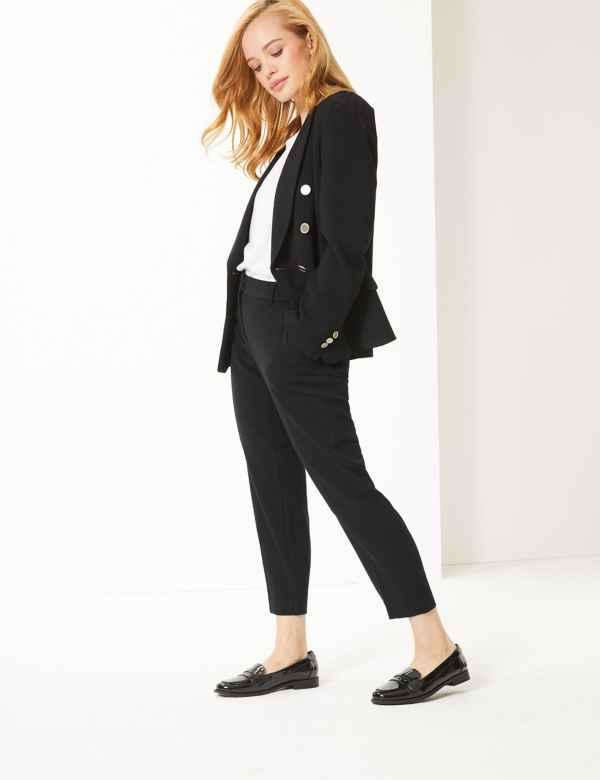 296bc57cb22a8b Womens Slim Fit Trousers & Leggings | M&S
