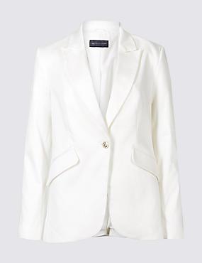 PETITE Cotton Rich Blazer