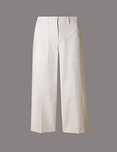 Cotton Rich Centre Crease Culottes