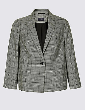 CURVE Checked Blazer