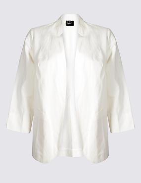 CURVE Linen Blend Blazer