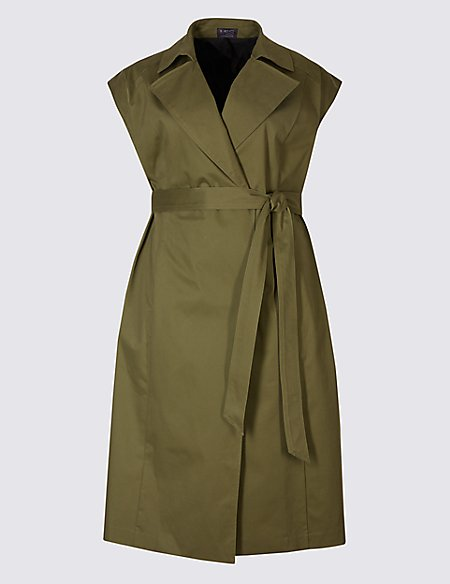 CURVE Cotton Rich Longline Trench Coat