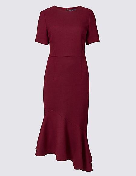 Short Sleeve Fishtail Bodycon Dress