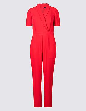 Pique Short Sleeve Jumpsuit