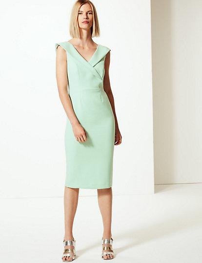 71bc5c7e9 Double Crepe Short Sleeve Bodycon Dress