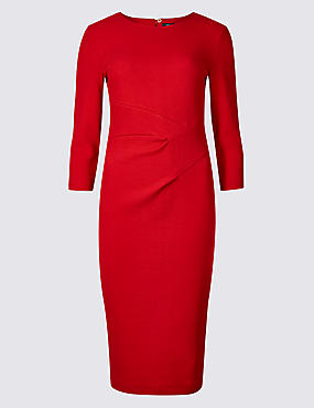 Cotton Rich Twisted Front Bodycon Dress