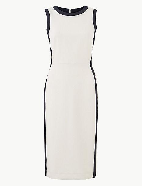 Colour Block Side Stripe Bodycon Dress