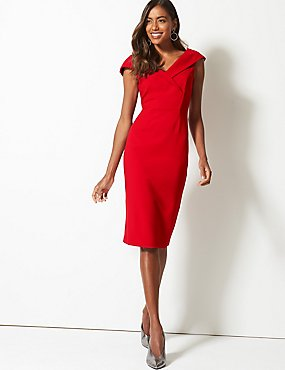 796cf55de7a0 Double Crepe Bodycon Dress