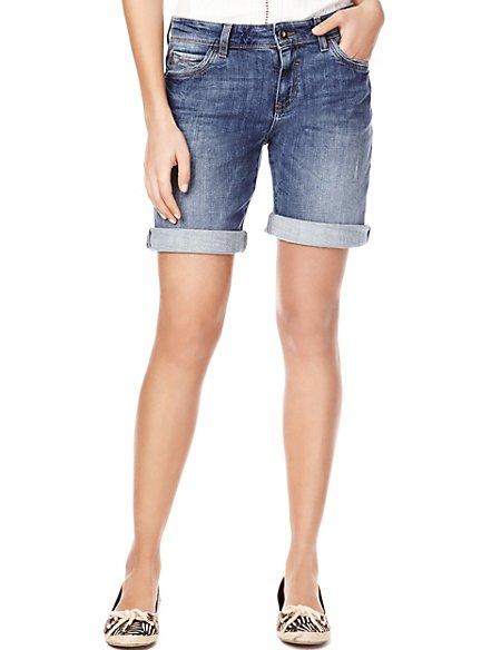 34214bdaca9 Product images. Skip Carousel. Cotton Rich Turn Up Hem Denim Shorts