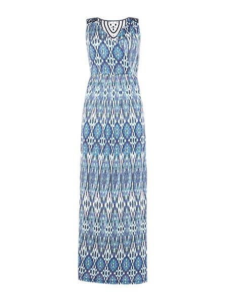 Ikat Maxi Dress with Modal