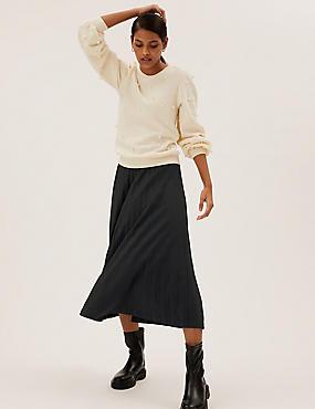Pleated Midaxi Skirt