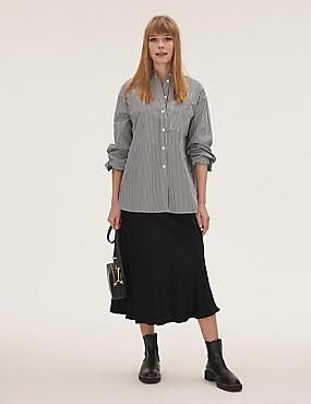 Satin Midaxi Slip Skirt