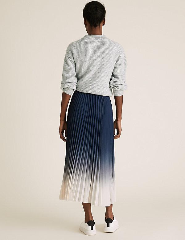Size 10-18 Marks and Spencer Navy Blue Satin Stripe Panelled Skirts
