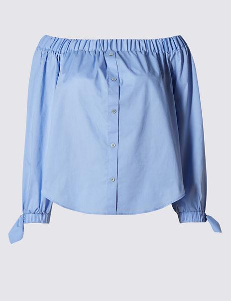 Cotton Rich Bardot Shirt