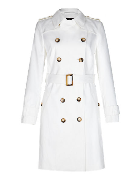 Best of British Pure Cotton Trench Coat with Belt