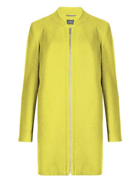 PETITE Zip Through Overcoat