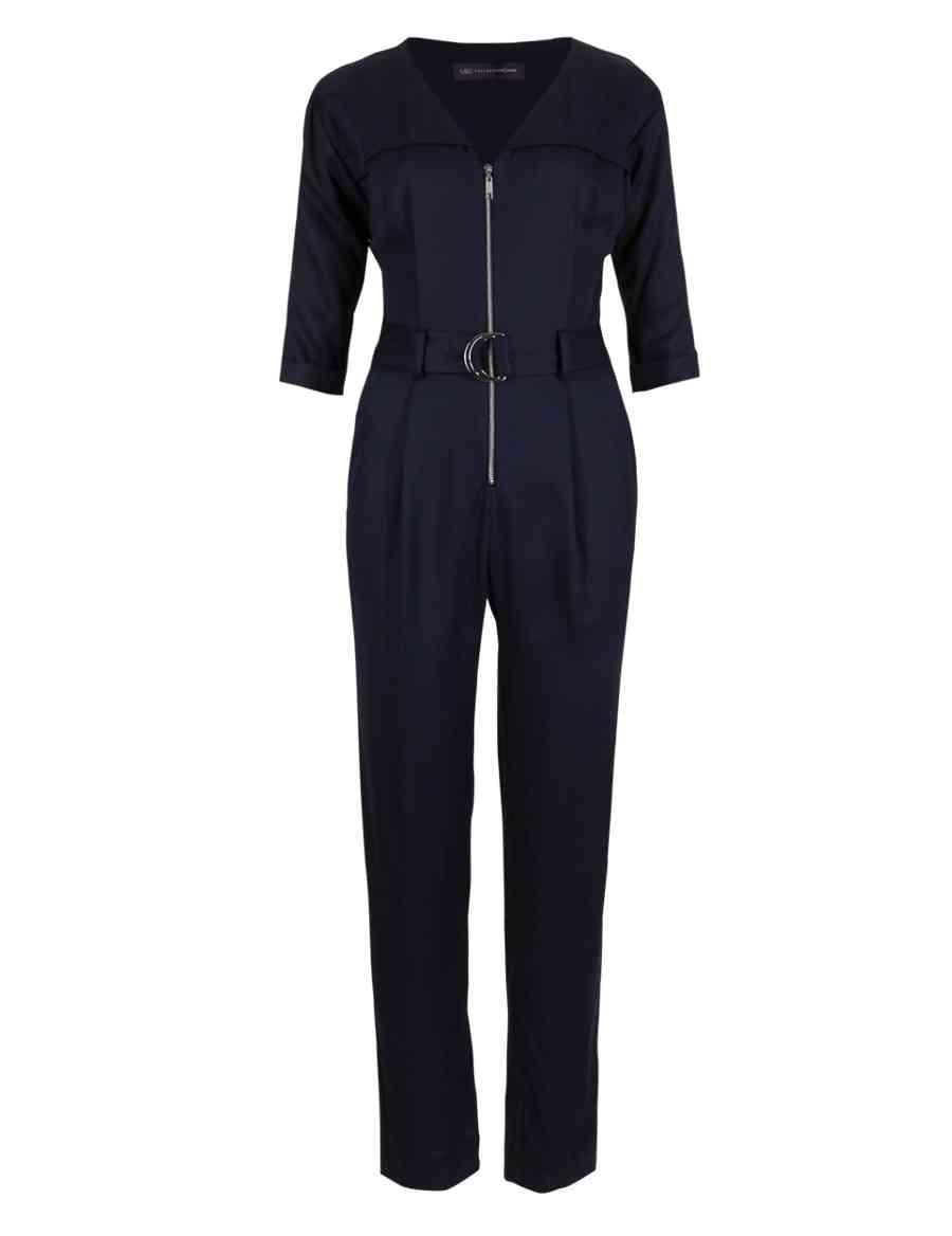 236cc7b9840 PETITE Zipped Front Belted Jumpsuit