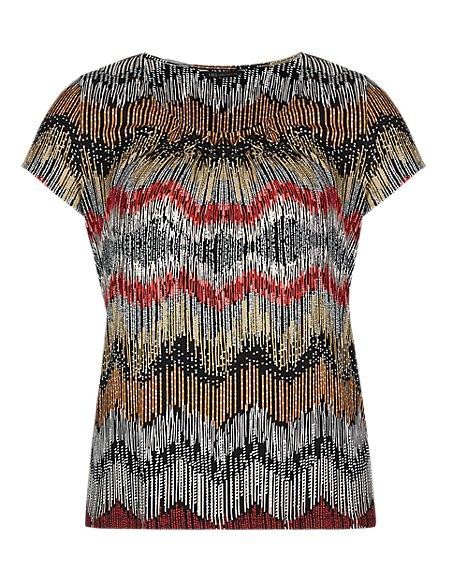 PLUS Linear Print T-Shirt
