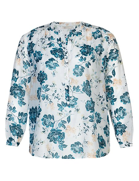 PLUS Floral Tunic with Silk