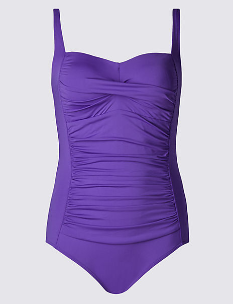PLUS Twisted Front Ruched Swimsuit