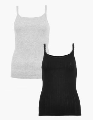 2 Pack Thermal Pointelle Vests