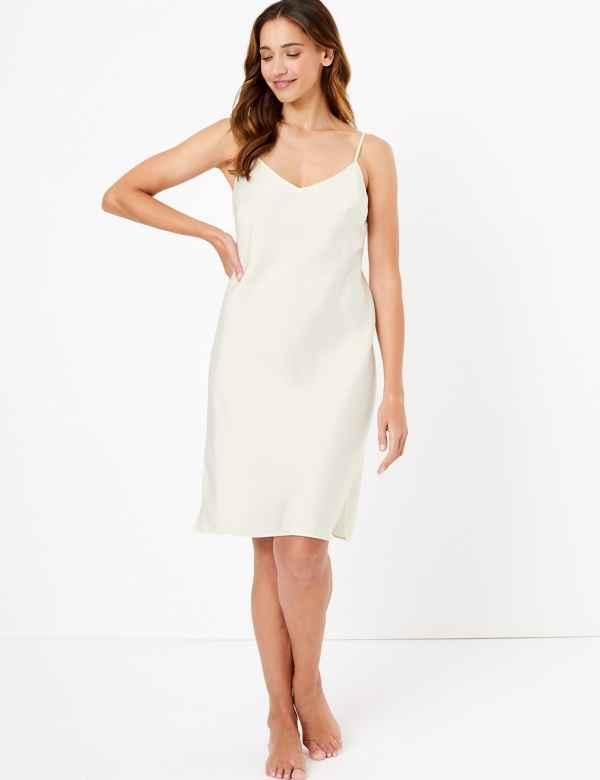 M/&S//BHS Fabulous Sophisticated Ladies Full Length Satin Feel Petticoat Colours