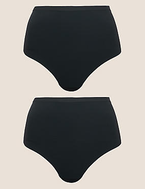 2er-Pack sanft figurformende Tangas ohne sichtbare Abdrücke