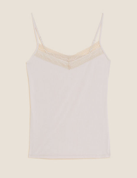 Lace Neck Strappy Vest with Cool Comfort™