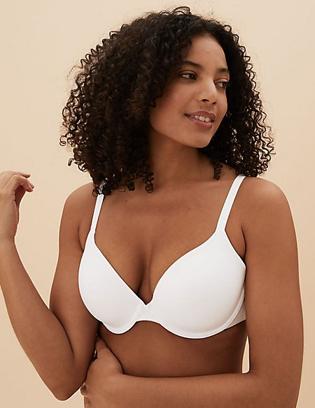 2 Pack Underwired Plunge T-Shirt Bras
