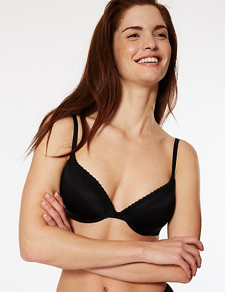 2 Pack Padded Plunge T-Shirt Bras AA-D